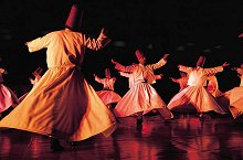 Twirling Dervishes: religious dance of the Sufi