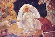 Fresco of the Anastasis (Descent to Hades) in the church of the Monastery of the Savior in Chora