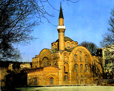 Monastery of Christ Akataleptos near the Aqueduct of Valens, after its recent restoration, Istanbul
