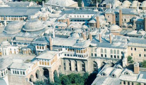 Aerial view of the Topkapi Palace, Istanbul
