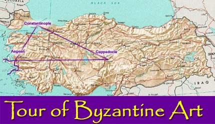 Route of Tour of Bzayntine Art
