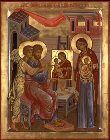 Saint Luke Writes the First Icon of the Mother of God