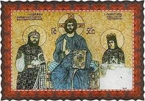 Christ, Emperor Constantine IX and Empress Zoe. Hagia Sophia, Istanbul