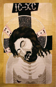 "Man of Sorrows 35.75"" x 23.25"" Gobelin Tapestry"