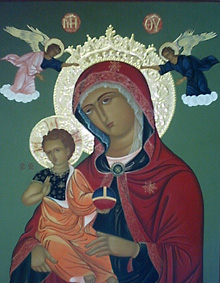Mother of God of Consolation--Egg tempera on wood and water gilding by icon painter Maria Virginia Revuelto