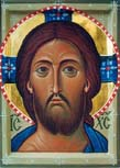 Icon of Christ painted in the Icon-Painting Workshop of St. John the Baptist Cathedral (12th century)
