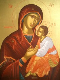 Mother of God Amiandos by icon-painter Jan Verdonk
