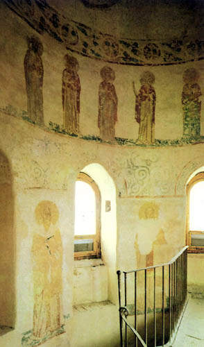 Wall paintings in the St. George Cathedral