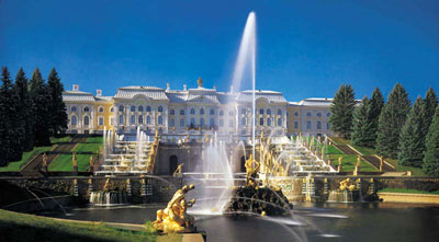 Samson&##39;s Fountains and the Great Cascade at the Peterhof
